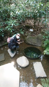Me posing in front of the well of Meiji (I guess?)