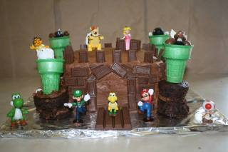 Easy Bowser Castle Cake