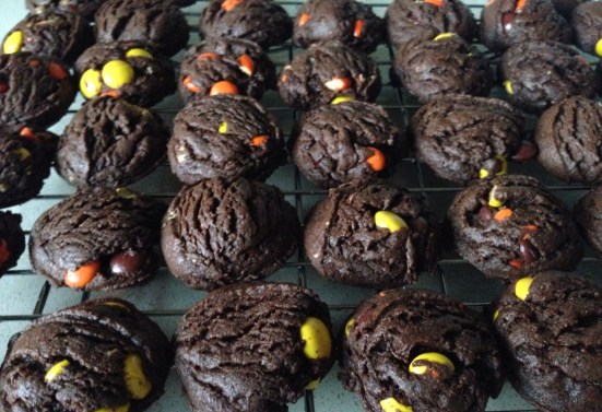 Reese's Pieces Chocolate Peanut Butter Cookies