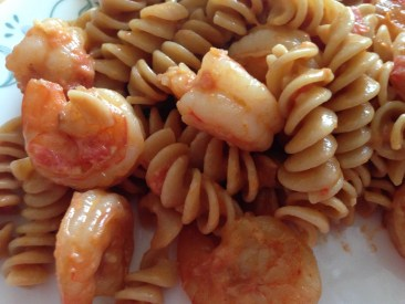 Shrimp Pasta in a tomato cream sauce