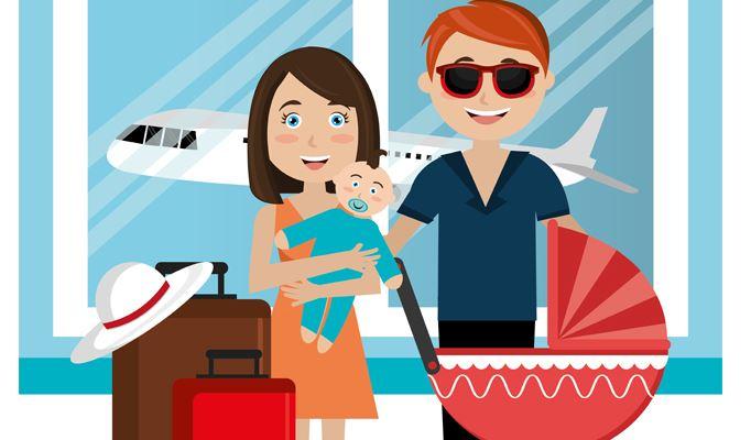 Viajar en avin con un beb Llegar al avin MisMimosas