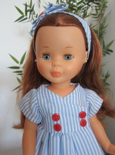 mis nancys mis peques y yo, vestido muñeca nancy marinero detalle