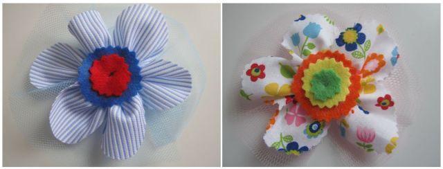 mis nancys, mis peques y yo, tutorial facil DIY flor de tul colores