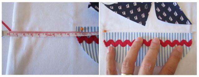 mis nancys, mis peques y yo, tutorial aplique camiseta colocar piezas