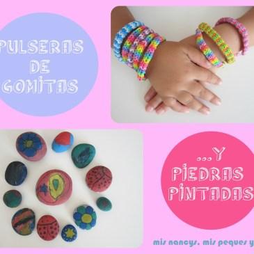 Pulseras de «Gomitas» y Piedras pintadas (Regalos para 7, parte 3)
