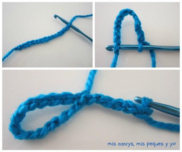 mis nancys, mis peques y yo, guirnalda con bolas de crochet, principio de la guirnalda