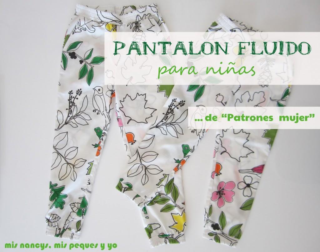 Pantalon fluido para niñas - mis nancys, mis peques y yo