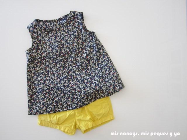 mis nancys, mis peques y yo, tutorial blusa sin mangas niña (patrón gratis), blusa terminada conjunto pantalon