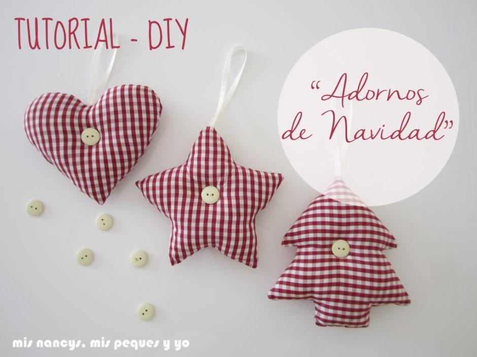 mis nancys, mis peques y yo, tutorial DIY adornos de navidad colgantes de tela reciclando una camisa