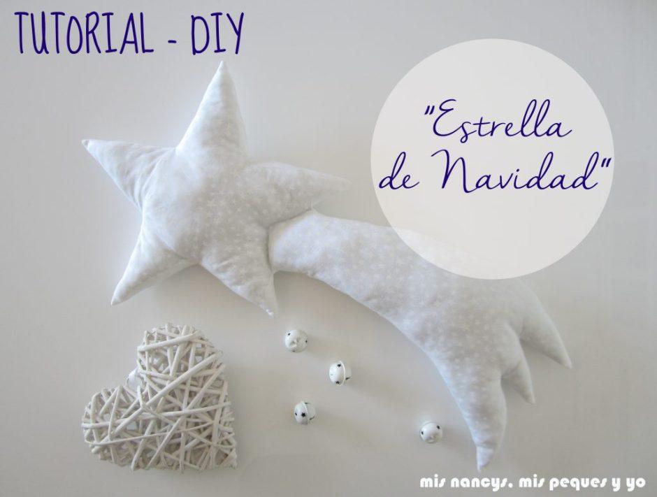 mis nancys, mis peques y yo, tutorial DIY cojin con forma de estrella de navidad