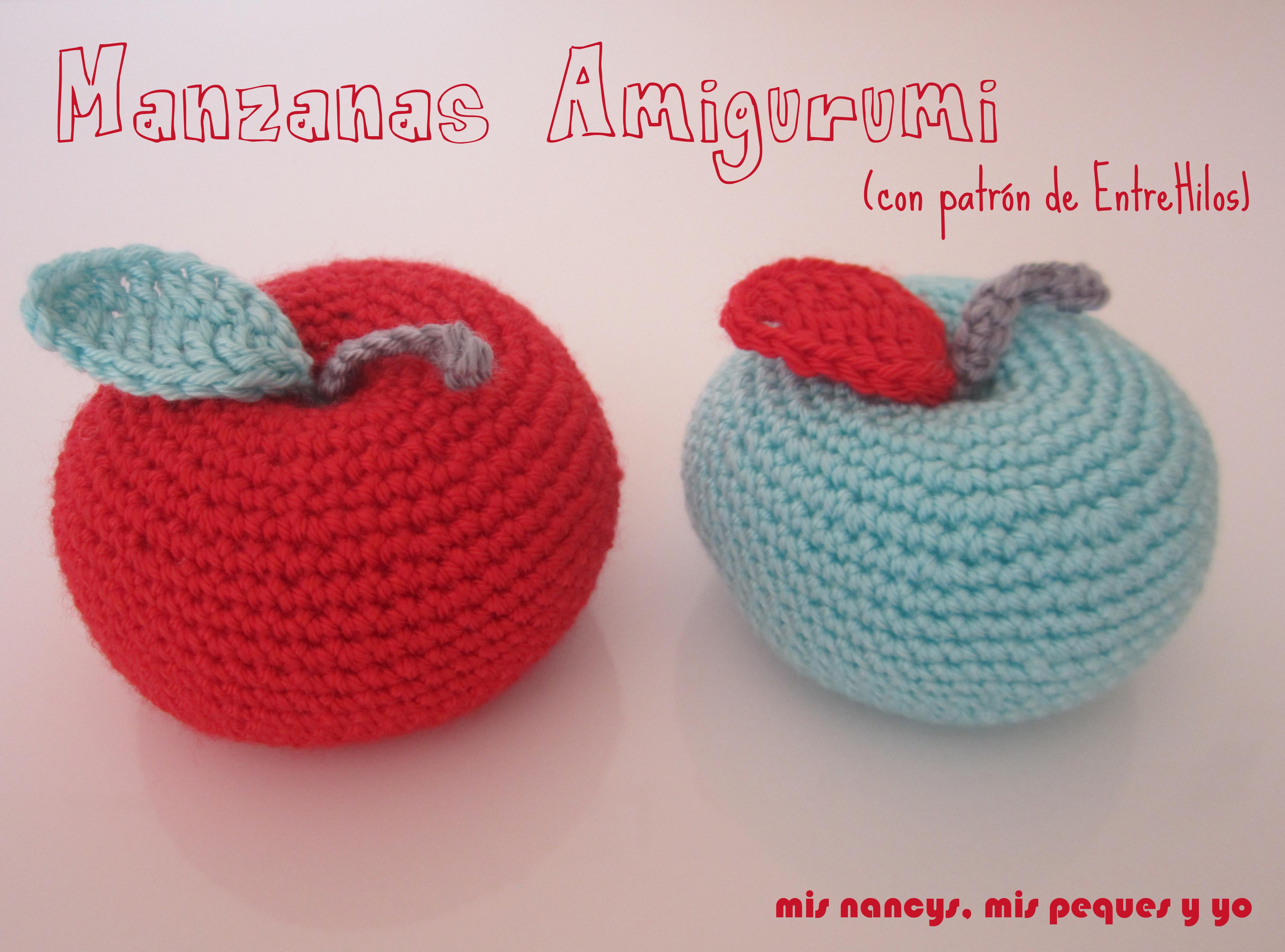 Manzana Amigurumi: Mi primera aventura con el crochet
