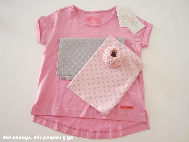 mis nancys, mis peques y yo, camiseta aplique elefante, materiales
