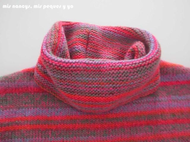 mis nancys, mis peques y yo, Tutorial DIY como coser un jersey de lana, detalle de bufanda
