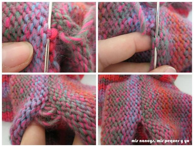 mis nancys, mis peques y yo, Tutorial DIY como coser un jersey de lana, costura del bajo de la manga