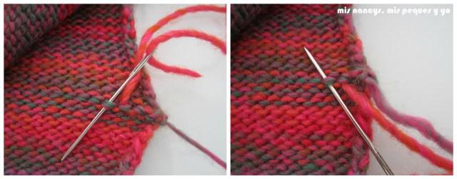 mis nancys, mis peques y yo, Tutorial DIY como coser un jersey de lana, rematar hilos de los laterales