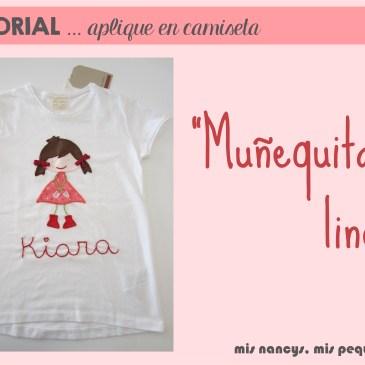 Tutorial aplique en camiseta… «Muñequita linda»