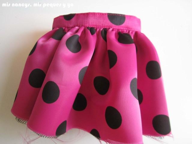 mis nancys, mis peques y yo, Tutorial falda fruncida con tul para Nancy y niñas, cinturilla terminada