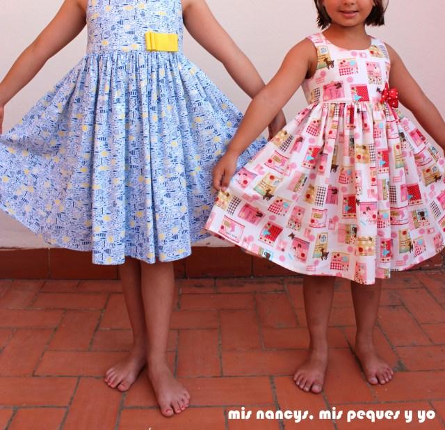 mis nancys, mis peques y yo, vestido everyday dress de Cosotela, como quedan vestidos con mucho vuelo