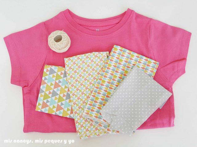 mis nancys, mis peques y yo, tutorial aplique en camiseta love, materiales