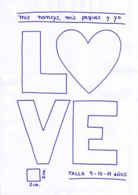 mis nancys, mis peques y yo, tutorial aplique en camiseta love, patron talla 9-10-11