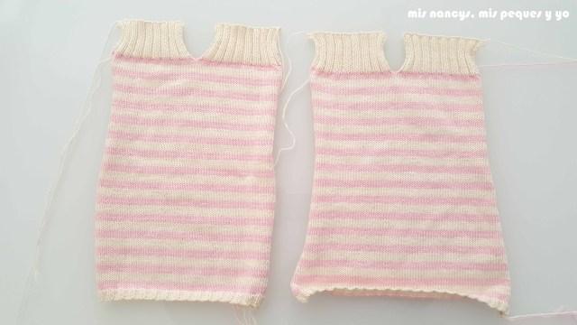 """mis nancys, mis peques y yo, tutorial jersey de punto de verano para niñas """"Fresa y nata"""", delantero y espalda"""
