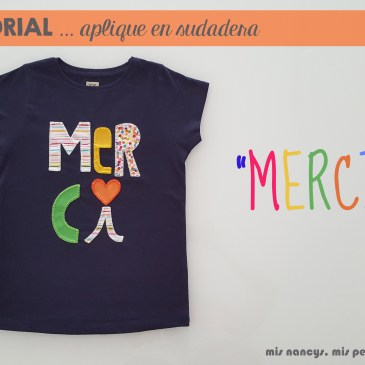 Tutorial aplique en camiseta… «MERCI»