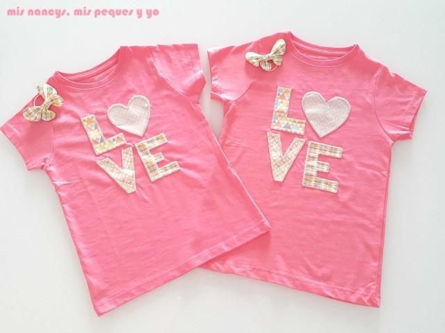 mis nancys, mis peques y yo, coleteros de mariposas, a juego con aplique en camiseta love