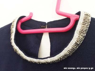 mis nancys, mis peques y yo, blusa de doble capa para mujer, detalle cuello mao