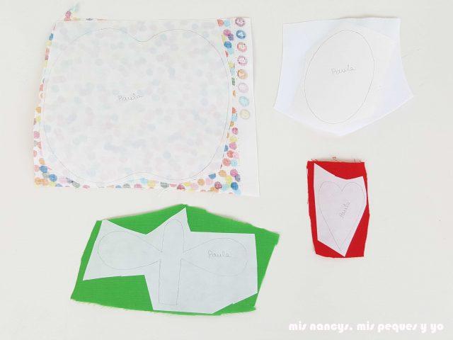 mis nancys, mis peques y yo, tutorial como personalizar camisetas, aplique de manzana, piezas de tela