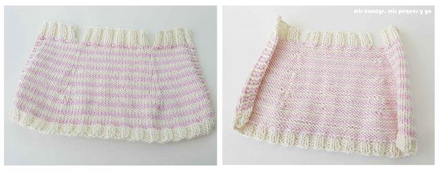 """mis nancys, mis peques y yo, tutorial jersey de punto para Nancy """"Fresa y nata"""", jersey tejido por delante y por detras"""