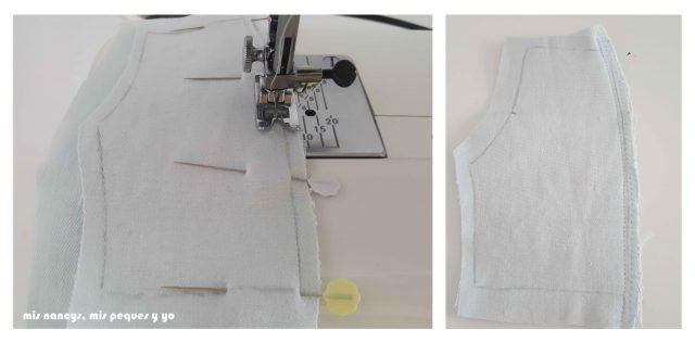 mis nancys, mis peques y yo, tutorial short vaquero para Nancy (patron gratis), coser con un pespunte