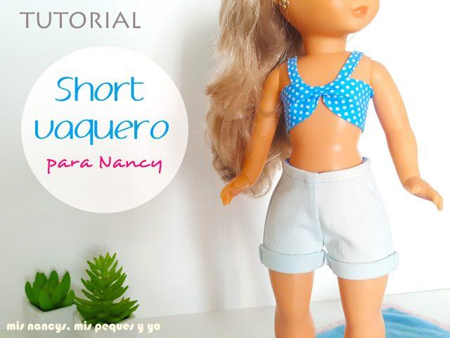 mis nancys, mis peques y yo, tutorial short vaquero para Nancy (patron gratis)