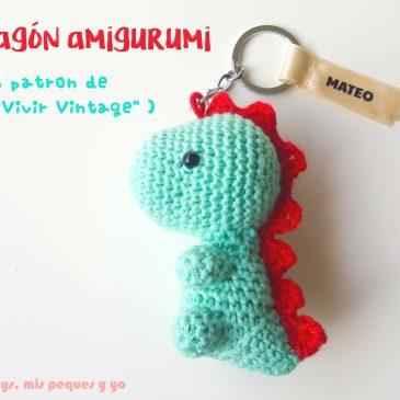 Dragón amigurumi para llavero