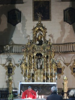 Altar currigueresco. Iglesia de Santiago. Granada. Foto: Francisco López