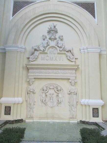 Palacio Müller. Fuente del patio. Gran Vía. Granada. Foto: Francisco López