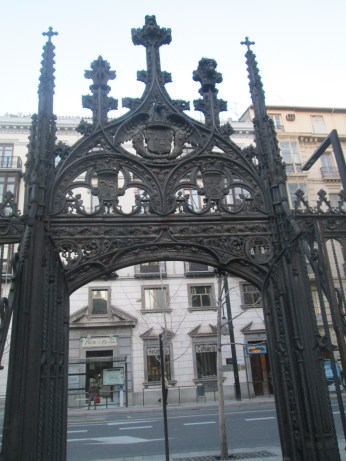 Reja. Puerta acceso a C/ Oficios. Granada. Foto: Francisco López