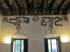 Cuadra Dorada. Pinturas murales. Casa de los Tiros