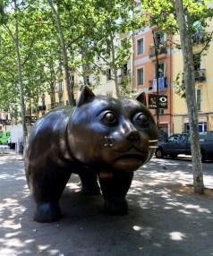Cat Spotting by sculptor whose work we found in Yerevan, Armenia