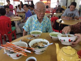 Hakka Lui Cha with Father-in-law