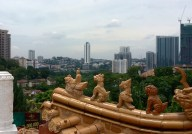 Thean Hou Temple overlooking Light Rail in distance