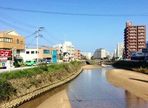 Fukuoka: Tidal canal in our neighborhood