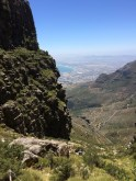 Looking back at our path up Table Mountain