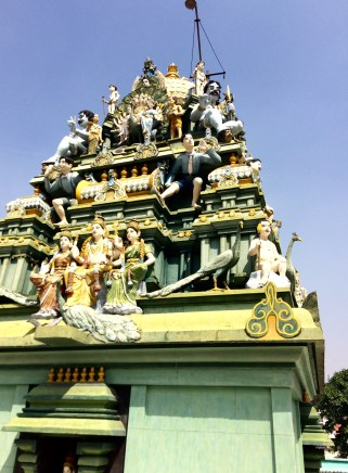 Hindu Temple with two deities in modern dress