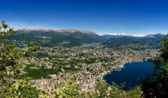 View of Lugano and FUS from San Sal