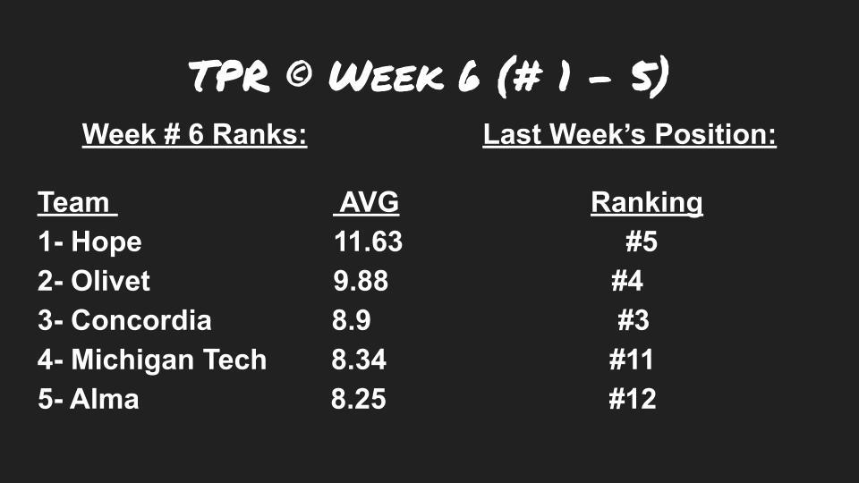 TPR week 6