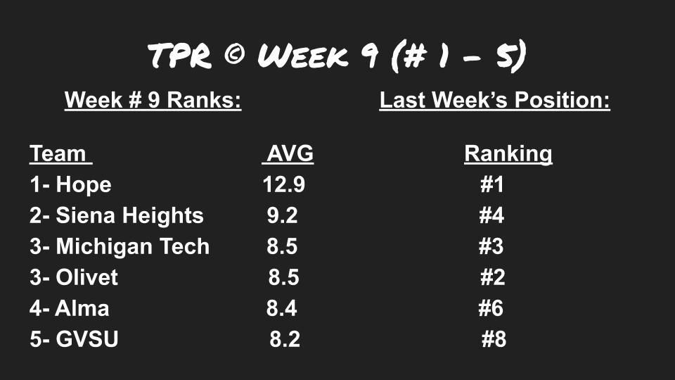 TPR week 9