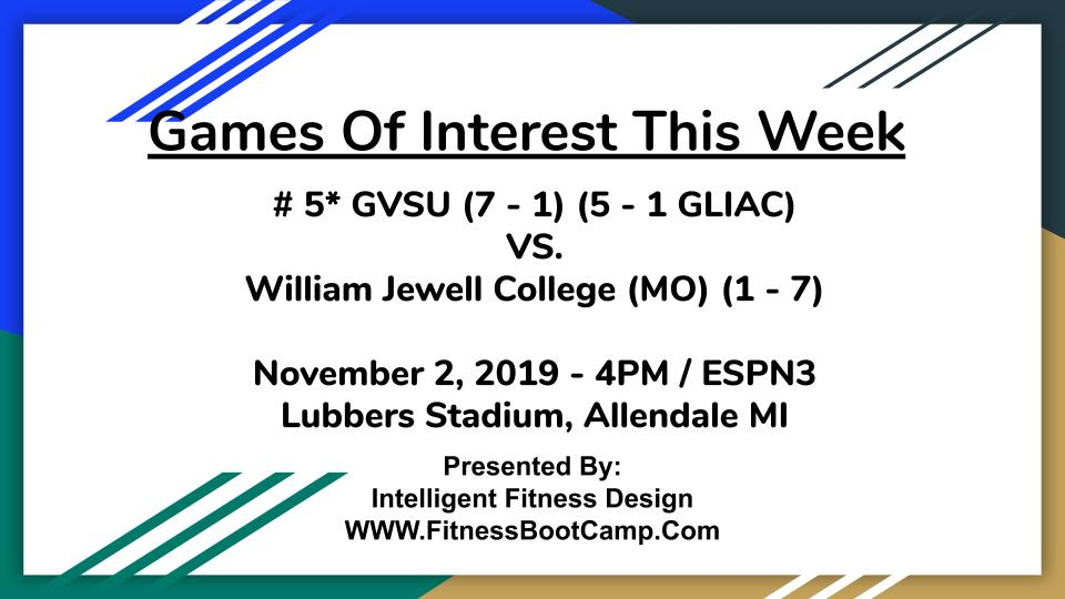 Week 9 Games of Interest (5)