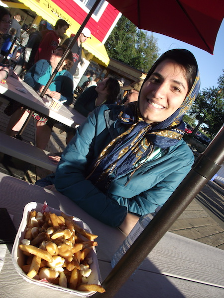 Victoria 2017: poutine and Sepideh