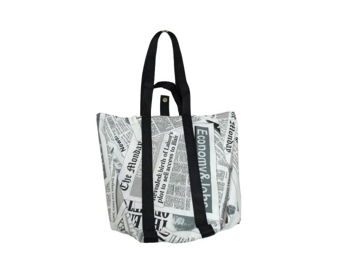 Foldable Newspaper Market bag by misp Workshop mispworkshop.com
