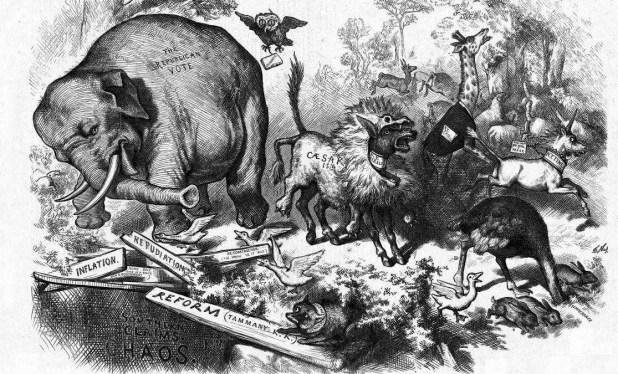 تعرف على سر الفيل والحمار رمزي أشهر حزبين في العالم